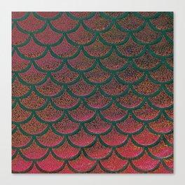 Peach Pine Scales Canvas Print