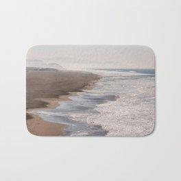 Ocean Beach, San Francisco Photography, From Above Art, Surfers, Pacific Ocean, California Art Bath Mat