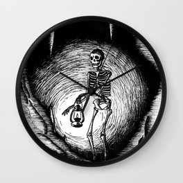 Death and light Wall Clock