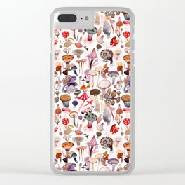 Mushroom Collection Clear iPhone Case