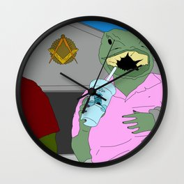 Lizard Gossip Wall Clock