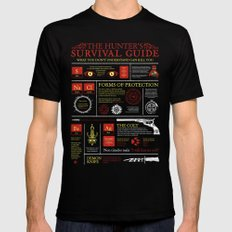 The Hunters Survival Guide Black MEDIUM Mens Fitted Tee