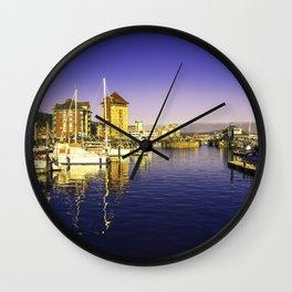 Swansea Marina Reflections Wall Clock