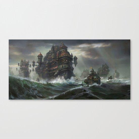 Kodran Migrant fleet  Canvas Print