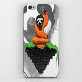 Internet Browsing Sloth Monk iPhone Skin