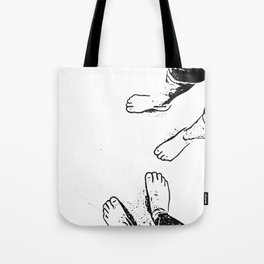 Feet on the sand Tote Bag