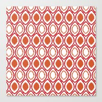 ikat Canvas Prints featuring Ikat by Jay Hooker Designs