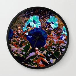 Blue Fields Wall Clock