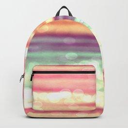 Whimsical Pastel Bokeh Stripes Backpack