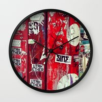 graffiti Wall Clocks featuring Graffiti by Limmyth