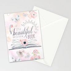 IT'S A BEAUTIFUL DAY TO GET LOST IN A BOOK Stationery Cards