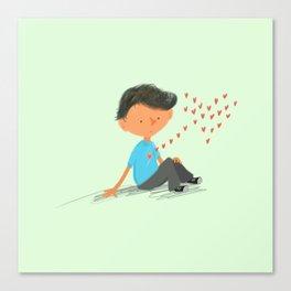 Boy in Love Canvas Print