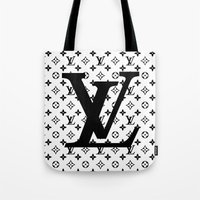 lv Tote Bags featuring lv   pillow by HeyShay
