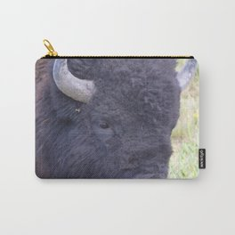Watercolor Bison Bull 29, Yellowstone, WY Carry-All Pouch