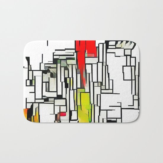 City in the summer Bath Mat