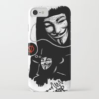 vendetta iPhone & iPod Cases featuring Vendetta by Facey Artist