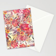 Watercolor flowers and plants Stationery Cards