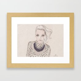 Wearing dots and studs Framed Art Print