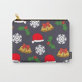Jingle Bells Christmas Collage Carry-All Pouch