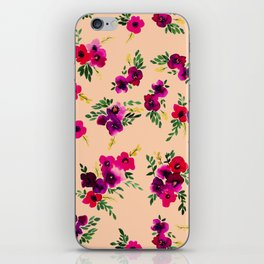 Ava Floral Peach iPhone Skin