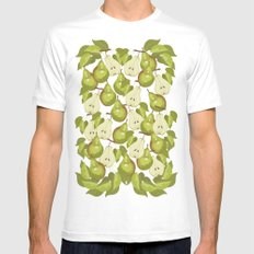 Pears Pattern MEDIUM White Mens Fitted Tee