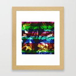 An ode to interspecies mood enhancement technique. Framed Art Print