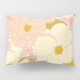 Pink Pastel Vintage Floral Pattern Pillow Sham