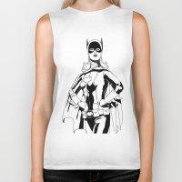 batgirl Biker Tanks featuring Batgirl by MKilness