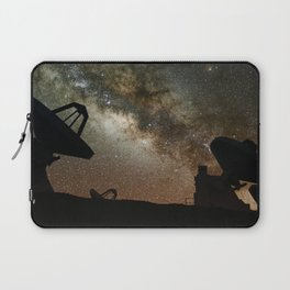 Radio Telescopes and Milky Way Laptop Sleeve
