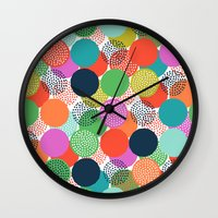 chelsea Wall Clocks featuring Chelsea Dot by Elephant & Rose