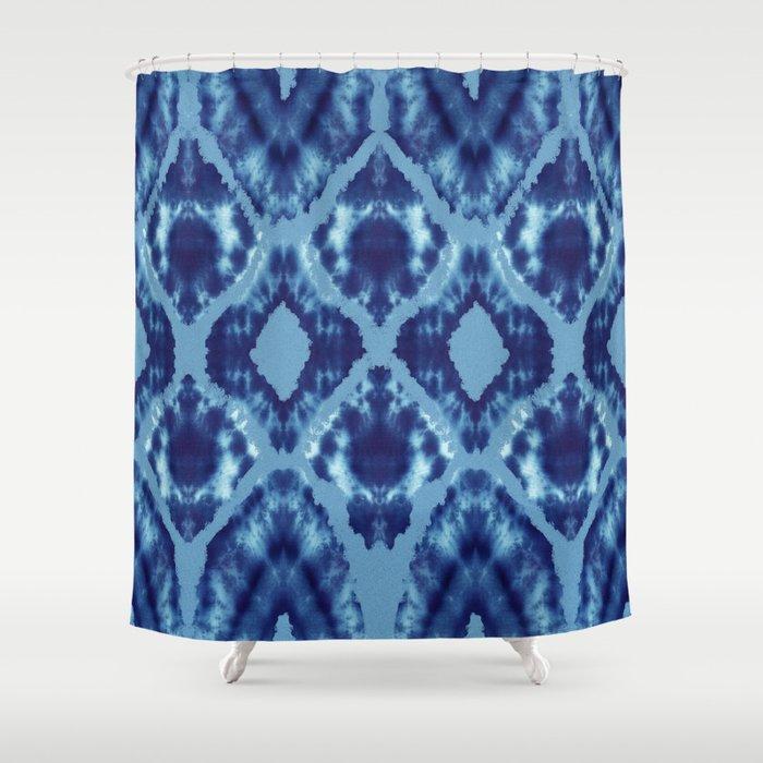 Applique Tie Dye Shower Curtain