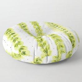 Leaf Pattern in Watercolour Floor Pillow