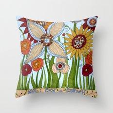 Garden of Compassion Throw Pillow