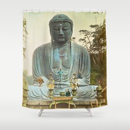 The Bronze Buddha at Kamakura Shower Curtain