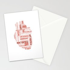 Anatomical Heart Typography Stationery Cards
