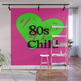 80s Child Pink and Green Fluorescence Wall Mural