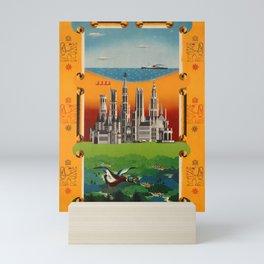retro Plakat Visit Belgium Schell Seaside Cities Countryside Mini Art Print