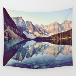 Moraine Lake Reflection Wall Tapestry