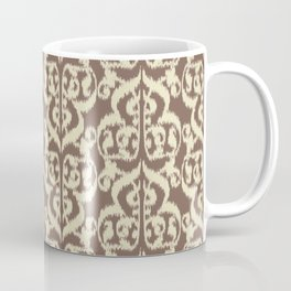 Ikat Moorish Damask, Beige and Taupe Tan Coffee Mug