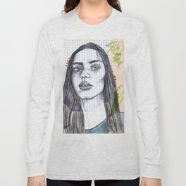 Mixed Media Sketch Long Sleeve T-shirt