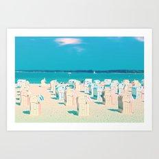 Sunny day on the Beach Art Print