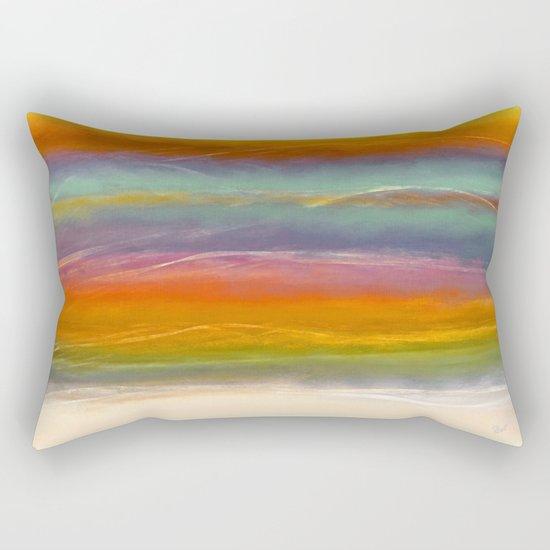 Beautiful Mountains Abstract Landscape 16 Rectangular Pillow