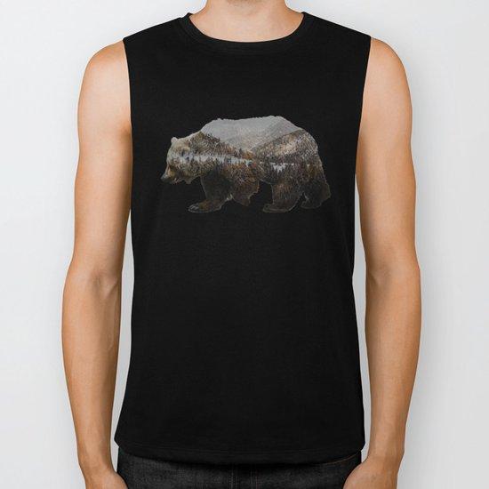 The Kodiak Brown Bear Biker Tank