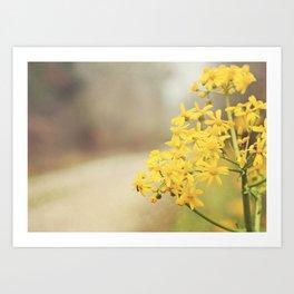 Flowers for Mom! Art Print