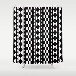 Geometric Pattern 177 (edie sedgwick) Shower Curtain