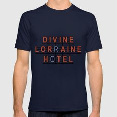 Divine Lorraine Hotel 2X-LARGE Mens Fitted Tee Navy