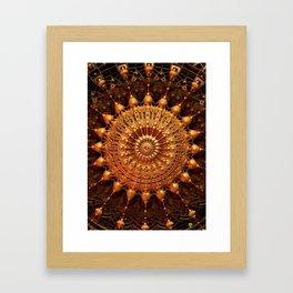 Sun Spur - Raw 3D Fractal Framed Art Print