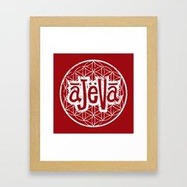 Ajeva Logo Red Framed Art Print