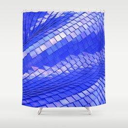 Blue dragon skin Shower Curtain