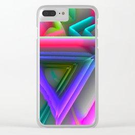 pop triangels Clear iPhone Case